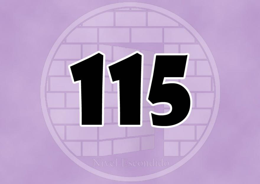 Nivel Escondido 115